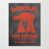 Imperial Car Service (Safety Orange) Canvas Print