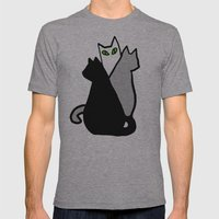 Katze Mens Fitted Tee Athletic Grey SMALL