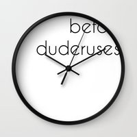 Uteruses Before Duderuse… Wall Clock