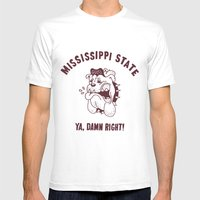 Womp Down Mens Fitted Tee White SMALL