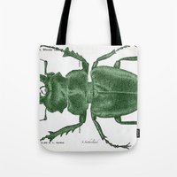Green Beetle Postcard Tote Bag