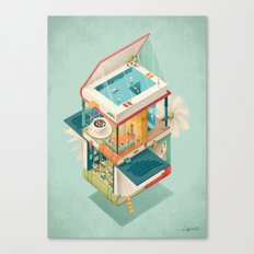 Creative house Canvas Print