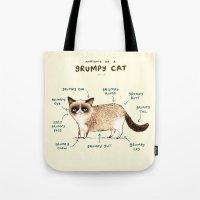 Anatomy of a Grumpy Kitty Tote Bag
