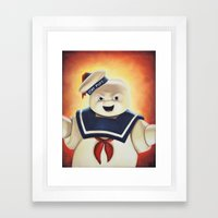 Stay Puft Marshmallow Man Framed Art Print