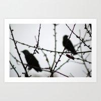 Autumn birds Art Print