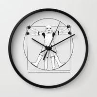 Vitruvian Stormtrooper Wall Clock