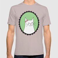 White Kitty Mens Fitted Tee Cinder SMALL