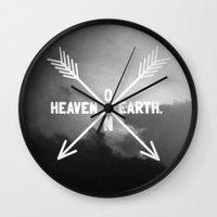 Heaven On Earth (B&W) Wall Clock
