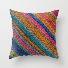 white bred Throw Pillow