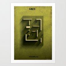 02_ Archiplan_mies van der rohe Art Print