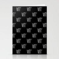 WTF Noir Stationery Cards