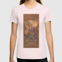 Violencia Robotica Womens Fitted Tee Light Pink SMALL
