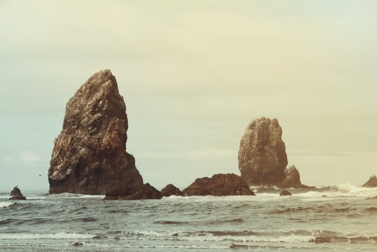 Sea Stacks (Cannon Beach, Oregon) Canvas Print