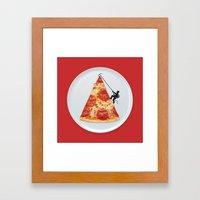 Pizza Topping Framed Art Print