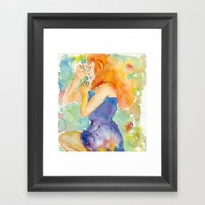 She Slept Framed Art Print