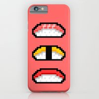 iPhone & iPod Case featuring Pixel Nigiri Sushi by Sombras Blancas Art & Design