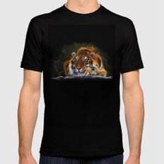 Cool Tiger Mens Fitted Tee Black SMALL