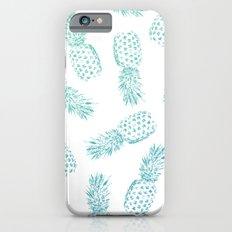 Pineapples Blue  iPhone 6s Slim Case