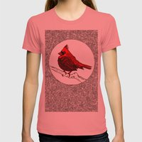 A Red Cardinal Womens Fitted Tee Pomegranate SMALL