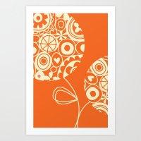 Sunburst bouquet Art Print