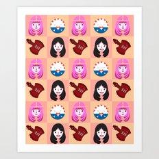 Marcelline & Bubblegum Art Print