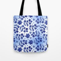 Beautiful vintage watercolor pattern with flowers Tote Bag