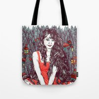 Three Eyed Girl Tote Bag