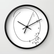 Wall Clock featuring Savoureux - Hannibal Clo… by Olivia Desianti