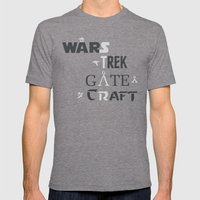 Geek All Stars Mens Fitted Tee Tri-Grey SMALL