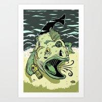 Something Fishy This Way… Art Print