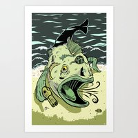 Something Fishy This Way… Art Print