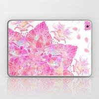 Pink Boho Bold Floral He… Laptop & iPad Skin