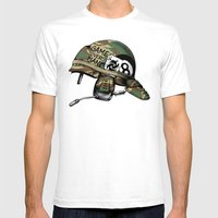 Game Over, Man! Mens Fitted Tee White SMALL