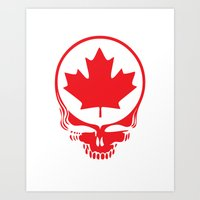 Canadian Steal Your Face (variation #2) Art Print