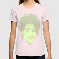 Prince / Warhol Remix : Faded Womens Fitted Tee Light Pink SMALL