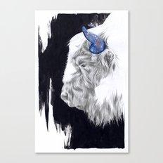 Space Cow Canvas Print