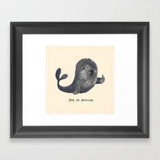 Seal Of Approval Framed Art Print
