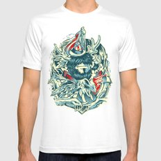 LongLived White SMALL Mens Fitted Tee