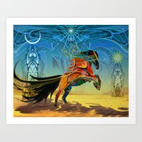 The Wind Of Time (Red Ho… Art Print