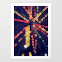 At The Show Bokeh Art Print