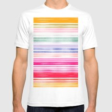 Waves 1 Mens Fitted Tee SMALL White