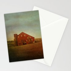 Red Barn in Autumn Stationery Cards