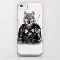 iPhone 5c Cases featuring Wounded Lone Wolf by Rendra Sy