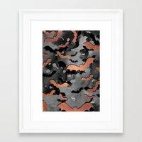 Bats In Flight (Rose Gol… Framed Art Print