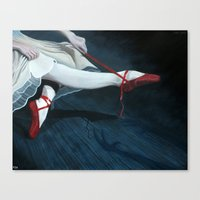 The Red Shoes Canvas Print