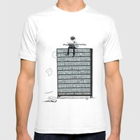 LITTLE DREAMS, BIG BOOKC… Mens Fitted Tee White SMALL