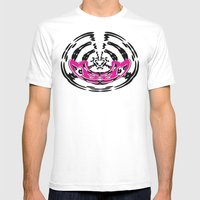 DJ Warped  Mens Fitted Tee White SMALL