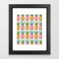 Pineapple Candy Framed Art Print