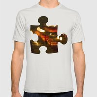 Cathedral Candles Mens Fitted Tee Silver SMALL