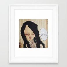 Trifecta - Water Framed Art Print